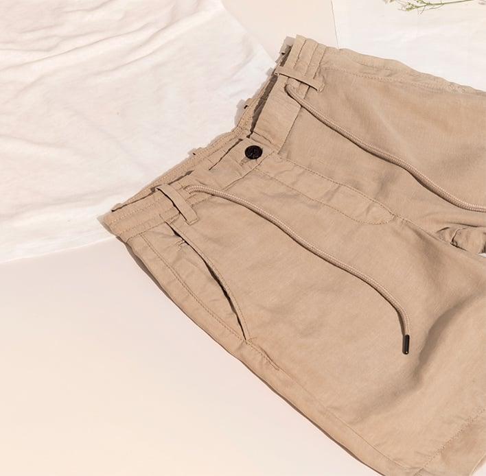 Leichte Bermuda-Shorts Lyocell