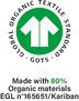 Certification la plus stricte en matière de textiles en fibres biologiques, depuis la récolte des matières premières en passant par une fabrication écologiquement et socialement responsable.  Délivré par Ecocert Greenlife, Licence N° 165651.
